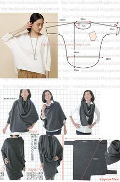 Шитье бохо схемы Diy Clothing, Clothing Patterns, Sewing Patterns, Fashion Sewing, Diy Fashion, Fashion Outfits, Sewing Blouses, Sewing Pants, Dress Making Patterns