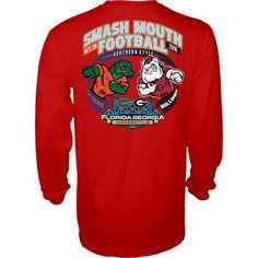 NCAA Georgia Bulldogs vs Florida Gators Smash Mouth Football Gameday Red LS T Shirt