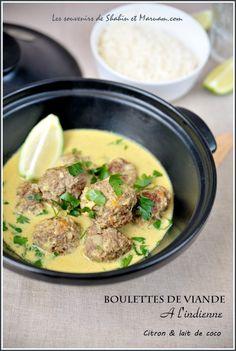 Boulettes de viande à l'indienne [citron vert + lait de coco] - Recette de Grodon Ramsey