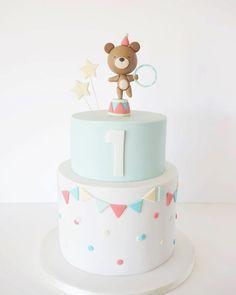 Peace of Cake 1st Birthday Cake For Girls, Ice Cream Birthday Cake, Baby Birthday Cakes, Happy Birthday Cake Topper, Birthday Cake Decorating, Fondant Cakes, Cupcake Cakes, Baby Girl Cakes, Cake Boss