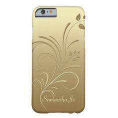 Gold on Gold Floral Swirls Monogram iPhone 6 case http://www.zazzle.com/gold_on_gold_floral_swirls_monogram_iphone_6_case-256583486948865483?rf=238675983783752015