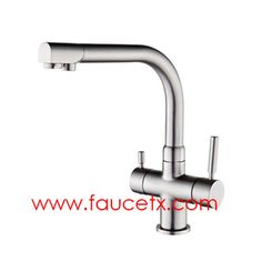 Rolya Chrome Finish 3 Way Kitchen Faucet Professional Factory | Osmosis  Reverse Three Way Water Filter Taps    Www.faucetx.com | 3 Way Water Filter  Taps ...