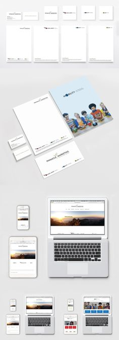 A brand identity and website creation for Pinnacle Marketing a company offering niche-market insurance  Solutions.