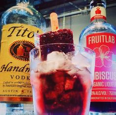 Hibiscus Mint + Tito's Poptail at Local on Upper Kirby Houston. #goodpop