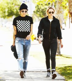 849e20d5be nowhollywood  Kristen Stewart wearing Vans sneakers and Oliver Peoples  OMalley sunglasses spotted with Alicia Cargile