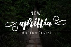 http://New Aprillia, a beautiful handwritten script. It's a fluid font that works well in many different types of projects. This professional looking font is easy to read and works well for marketing