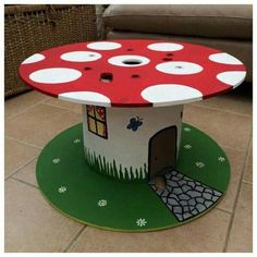 DIY Coffee Table Ideas for the Caffeine Addicts! – DIY Coffee Table Ideas for the Caffeine Addicts! – Related posts: DIY Recycled Tire Coffee Table 11 DIY Wooden Crate Coffee Table Ideas Diy Desk Table Fun 23 Ideas For 2019 Diy desk floating … Cable Spool Tables, Cable Spool Ideas, Spools For Tables, Wooden Spool Tables, Diy And Crafts, Crafts For Kids, Spool Crafts, Diys, Wood Spool