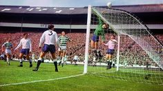 Pat Jennings makes a save in our friendly against Celtic in front of over 90,000 fans at Hampden Park, 1967