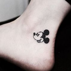 Cute And Tiny Disney Tattoo Ideas For Your Inspiration; Cute And Tiny Disney Tattoo Ideas; Mickey Tattoo, Mickey And Minnie Tattoos, Cute Disney Tattoos, Disney Tattoos Small, Tiny Tattoos For Girls, Small Tattoos, Tattoo Disney, Trendy Tattoos, Mini Tattoos