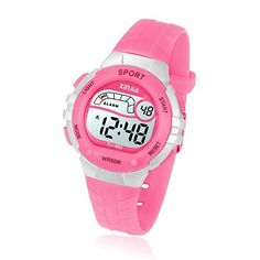 Kids Digital Watches for Girls Boys 50M(5ATM) Waterproof Multi-Functional WristWatches for Children 🍎50M Waterproof Sport Watch:Watch water resistant for 5 ATM,no problems for daily use,such as:rainy day,handwash,swimming,surfing or take a shower,children can wear it any time,it's also a wonderful gift for boys or girls 4-13 years old.Attation:Please don't press any buttons in the water when swimming. 🍎Cold Light function Display Kids Watch:The watch is easy to handle in dark environments of c Wedding Photography Cameras, Girls Wrist Watch, Waterproof Sports Watch, Sport Mode, Ring Video Doorbell, Clothes Steamer, Girls Hand, Girls 4, Watches Online