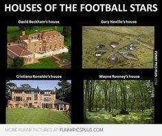 Footballers houses