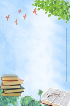 Simple And Small Fresh Reading Poster Background Material Old Paper Background, Kids Background, Flower Background Wallpaper, Cartoon Background, Background Pictures, Flower Backgrounds, Poster Background Design, Powerpoint Background Design, Background Templates