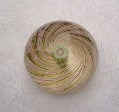 Antique Glass Paperweight Pricing | Perthshire Scotland Art Glass Swirl Paperweight - For Sale