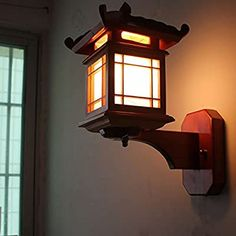 YPOSION Chinese aisle wall lights antique bedroom living room wall lights real wood carving flower v Bedside Wall Lights, Led Wall Lamp, Asian Lamps, Appliques Murales Vintage, Craftsman Lighting, Japanese Lamps, Led Wand, Lampe Decoration, Craftsman Furniture