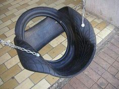 tire chair swing a cool way to do a tire swing.. recycled tires!!!