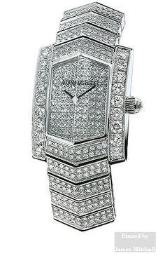 Audemars Piguet Facettes Women's Watch',the watch is made of an 18 Karat white gold bracelet set with diamonds, and comes with an 18 Karat white gold folding buckle