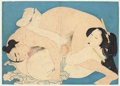 artofshunga:    Terukata Ikeda ( 池田 輝方 ; 1883-1921) Antique Meiji era Shunga - ca. 1900Inspired by Hokusai's 'The Adonis Plant' and Eiri's 'Models  of Calligraphy'6/11 Erotizmin nesnel deneyimi, onu yapan kişiden, yasağa karşı gelen istek kadar, yasağın oluşturduğu korkuya da duyarlı olmasını ister. bu korku ile yoğun zevki, istek ile ürküntüyü, sıkı bir şekilde birbirine bağlayan, dinsel duyarlılıktır. Georges Bataille / William-Adolphe Bouguereau