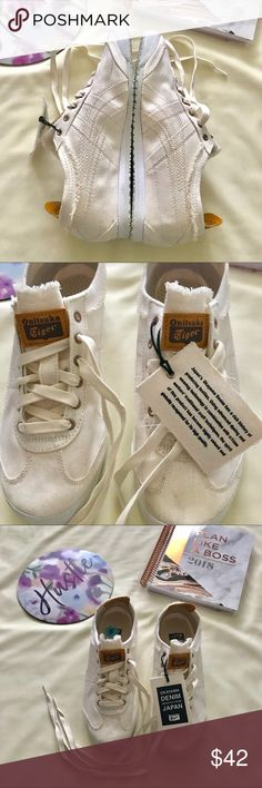 [NWOB] Asics (Size 6) Onitsuka Tiger Denim Shoes This item is an ASICS-brand Onitsuka Tiger Mexico 66 Shoes.  Made with Okayama denim from Japan.  New without Box. New with tags.  *** Color is more of an off-white than regular white. Onitsuka Tiger by Asics Shoes Sneakers