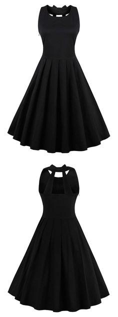 50s dresses,Black vintage dresses,Open Back dresses,Vintage Style Dress, reto dresses, short vintage dresses