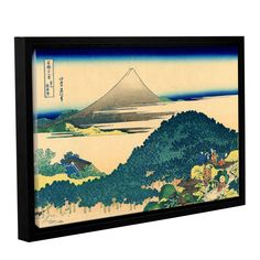 ArtWall Katsushika Hokusai 'The Coast Of Seven Leages In Kamajura' Gallery-wrapped Floater-framed