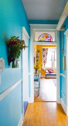 9 Magnificent Tricks: Natural Home Decor Earth Tones Living Rooms natural home decor feng shui front doors.Natural Home Decor Modern Couch simple natural home decor pine cones.Natural Home Decor Boho Chic. Deco Turquoise, Turquoise Walls, House Of Turquoise, Deco Cool, Tiny Apartments, Blue Rooms, Blue Walls, White Walls, Home Decor Ideas