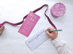 Invitasjon i design 'Rosa, takk' // ELM DESIGNKOLLEKTIV 2016