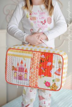 Quilt As You Go Suitcase || Mommy by Day Crafter by Night