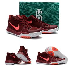 "February 17,2017 Shoes 859466-681 Nike Kyrie 3 ""Team Red"" Team Red Hot Punch-White"