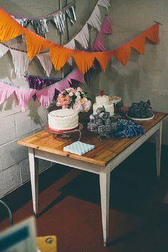 cake dessert table wedding