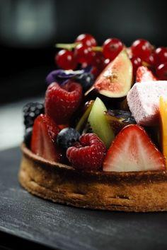 Pâte de Fruits- Sable Crust Filled w/ Vanilla Pastry Cream & Fruit via basilgenovese