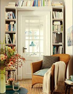home library and reading space