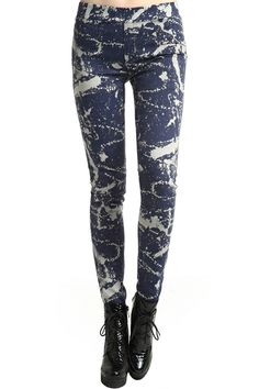 #Romwe Blue Injekt Leggings