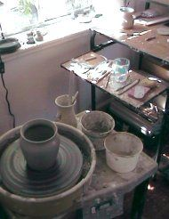 Setting up a home pottery studio pottery-on-the-wheel.com