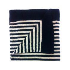 moresi for brebì blue/beige cashmere baby blanket