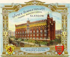 Advert for Templeton's Carpet Factory in Glasgow, Scotland   Glasgow University