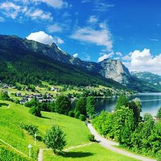 Austria - Grundlsee  www.inaustria.at Golf Courses, River, Mountains, Nature, Instagram Posts, Gardens, Outdoor, Outdoors, Garden