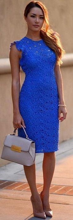 We founded for you 60 latest fashion trends that shows you the multiple great ways to dress up with style on summer. Tube Dress, Dress Up, Bodycon Dress, Hapa Time, Emerald Blue, Current Fashion Trends, Blue Lace, Zara, Dresses For Work