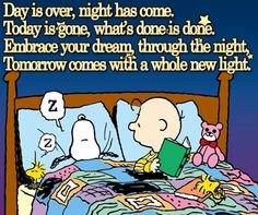 Good night my snoopy inspiration positive words