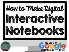 Notebook Organization Work - How to Make Digital Interactive Notebooks (Video Tutorial) Biology Interactive Notebook, Interactive Notebooks Kindergarten, Interactive Journals, Science Notebooks, Google Classroom, Classroom Ideas, Online Classroom, Flipped Classroom, Science Classroom