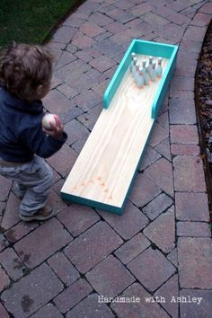 Best DIY Backyard Games - DIY Outdoor Bowling Lane - Cool DIY Yard Game Ideas for Adults, Teens and Kids - Easy Tutorials for Cornhole, Washers, Jenga, Tic Tac Toe and Horseshoes - Cool Projects for Outdoor Parties and Summer Family Fun Outside http://diyjoy.com/diy-backyard-games