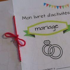 Livret de mariage pour enfant : jeux, coloriages et activités sur le thème de l'amour et du mariage