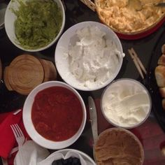 Guacamole, buffalo chicken dip, French onion dip, salsa, and sour cream? French Onion Dip, Onion Soup Mix, Buffalo Chicken, Palak Paneer, Sour Cream, Guacamole, Salsa, Dips, Cooking