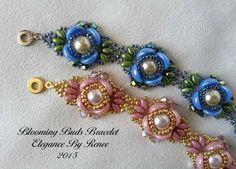 Blooming Buds Bracelet PDF Instant Download by ElegancebyRenee