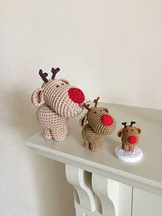 Three Little Reindeer #crochetpattern by Uljana Semikrasa #amigurumi   Ravelry