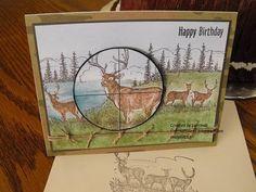 SU Noble Deer stamp. Isn't That Sweet?!: Hunting card