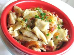 This Traditional Slovak Potato Dumpling Dish Is Known As Halusky: Slovak Halusky