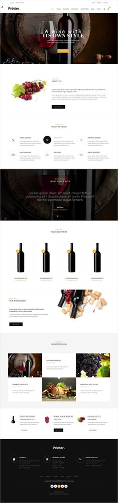 Printer is beautifully design versatile #winery #bootstrap HTML #template for stunning website with 60+ multipurpose homepage layouts download now➩ https://themeforest.net/item/printer-responsive-multipurpose-html5-template/17365545?ref=Datasata