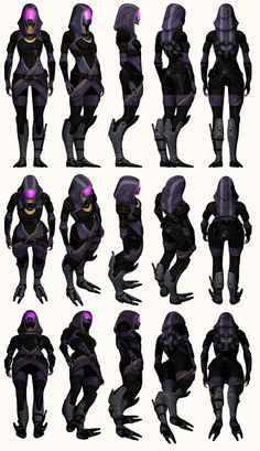 Mass Effect 2, Tali - Model Reference. by Troodon80.deviant... on deviantART