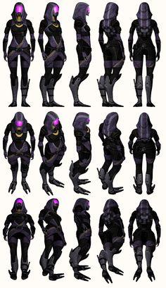 Mass Effect 2, Tali - Model Reference. by Troodon80.deviantart.com on @deviantART
