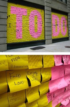 Re-thinking the to-do list in Brooklyn - Courtesy of Human Scale Cities. #streetart #nyc #happy